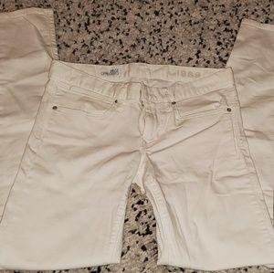 Denim - Gap white skinny Jean's size 2